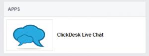 ClickDesk on Facebook - APPS